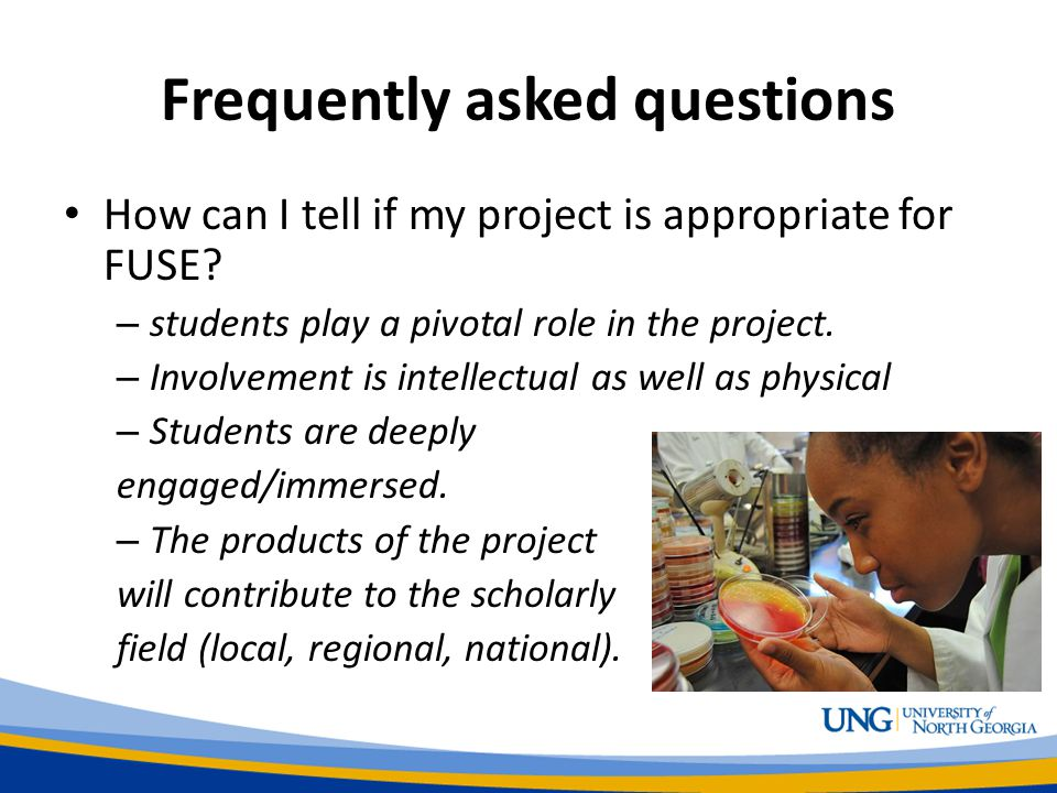Frequently asked questions How can I tell if my project is appropriate for FUSE.