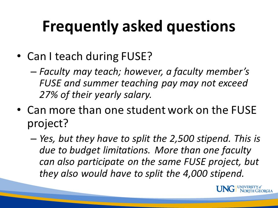 Frequently asked questions Can I teach during FUSE.