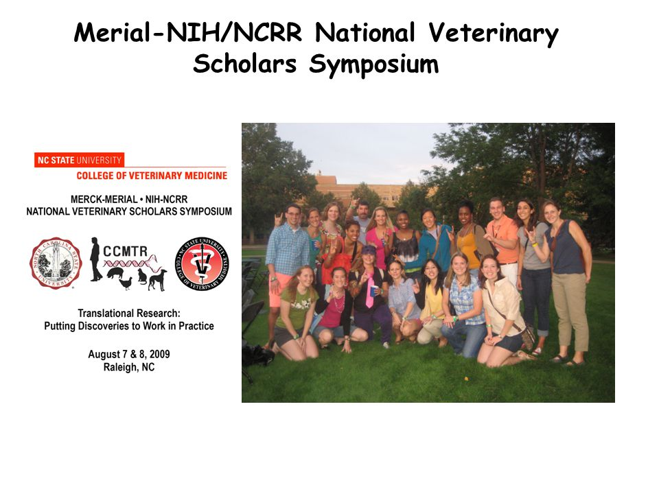 Merial-NIH/NCRR National Veterinary Scholars Symposium
