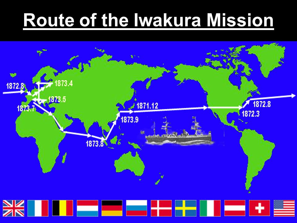 Route of the Iwakura Mission