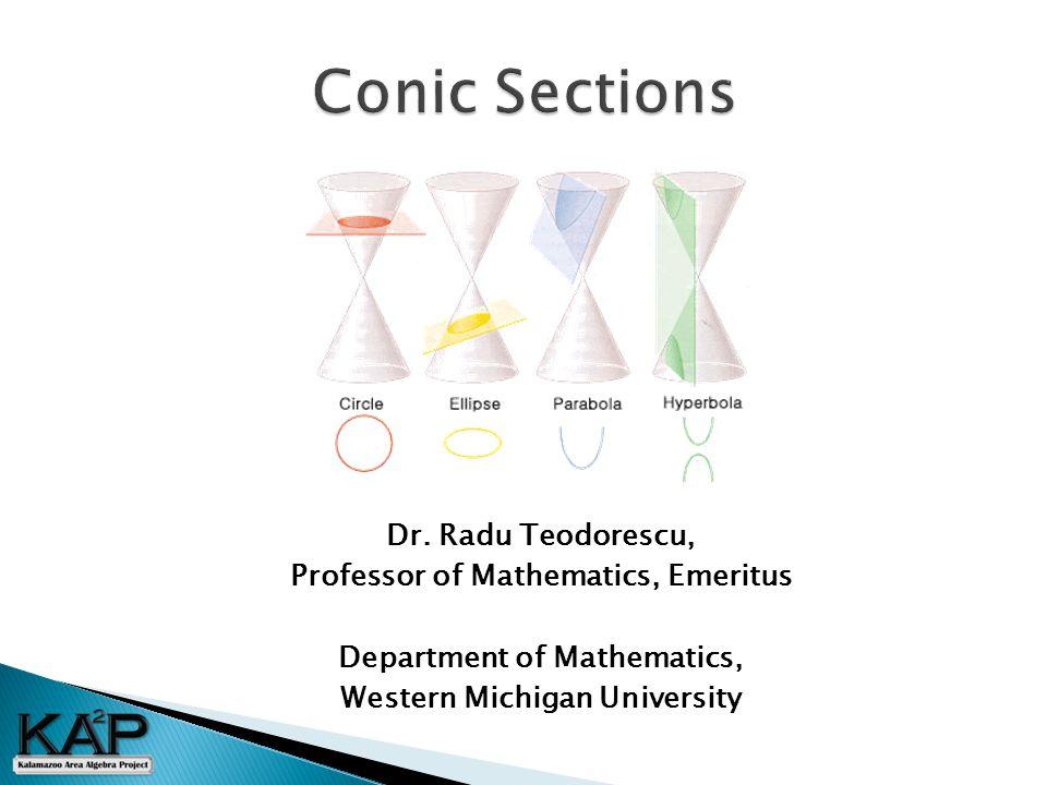 Dr. Radu Teodorescu, Professor of Mathematics, Emeritus Department of Mathematics, Western Michigan University