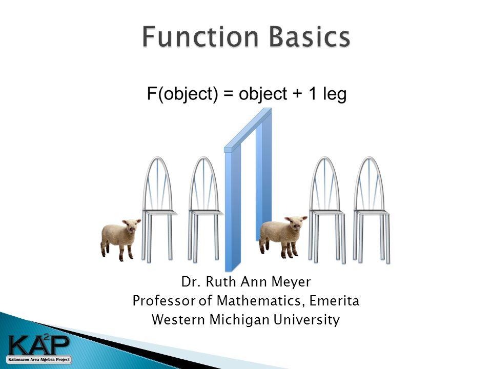 Dr. Ruth Ann Meyer Professor of Mathematics, Emerita Western Michigan University
