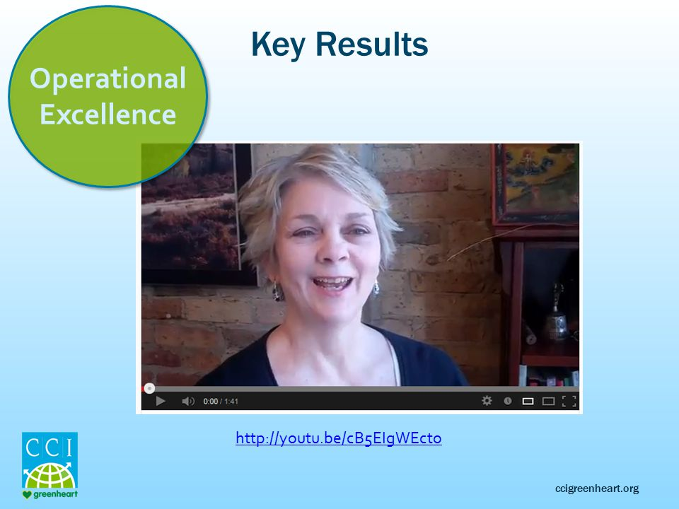 ccigreenheart.org Key Results Operational Excellence http://youtu.be/cB5EIgWEcto