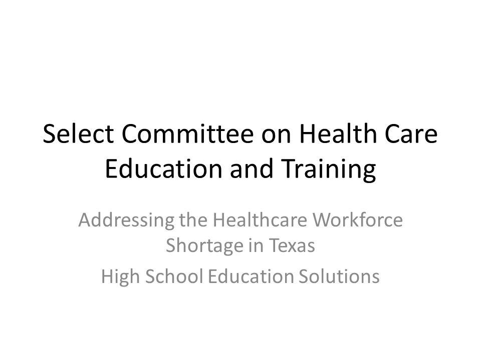 Presenter: Jackie Uselton, High School Health Science Teacher Executive Director Texas Health Occupations Association, Inc.