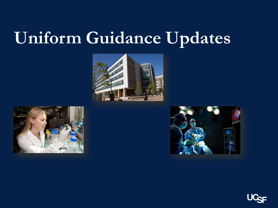Uniform Guidance Updates
