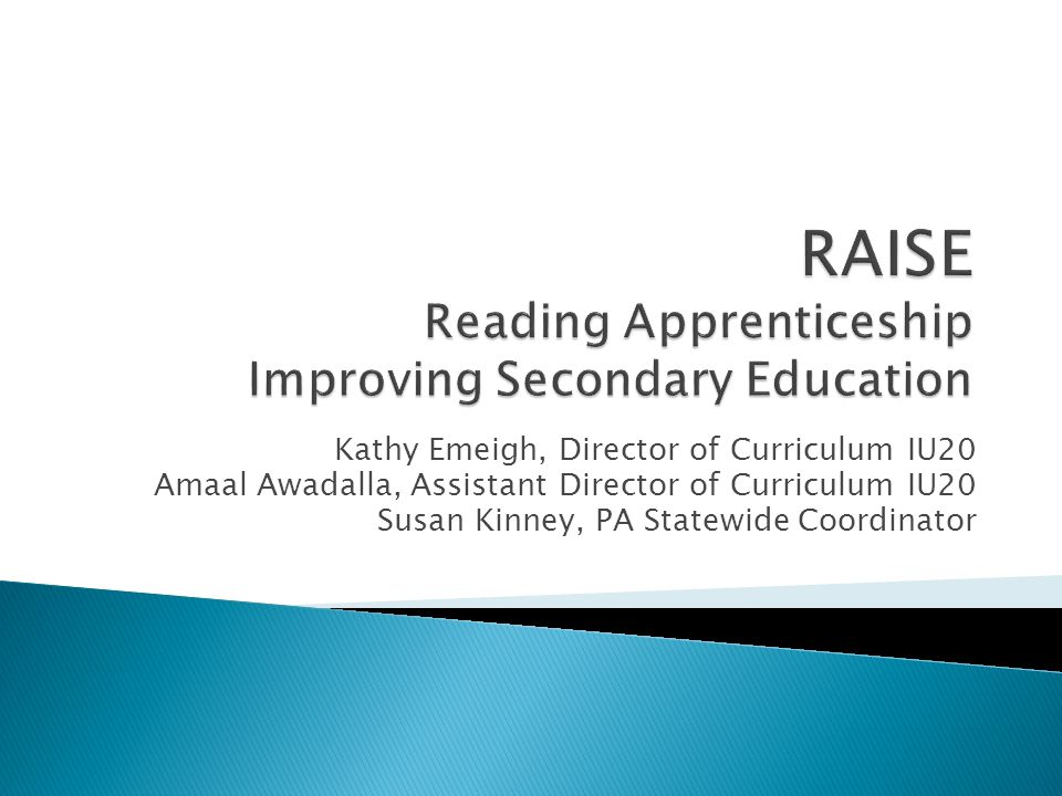  Will receive 65 hours of professional development in RA beginning in 2014.