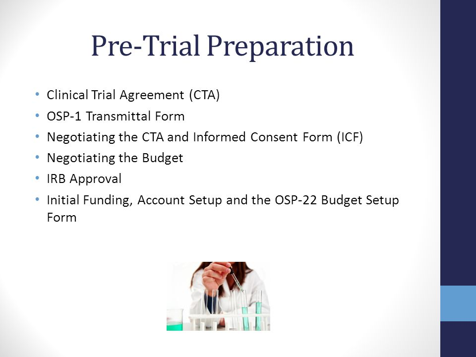 Clinical Trial Agreement (CTA) What.