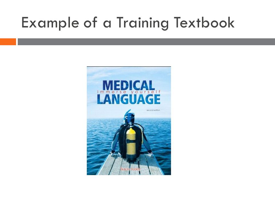 Example of a Training Textbook