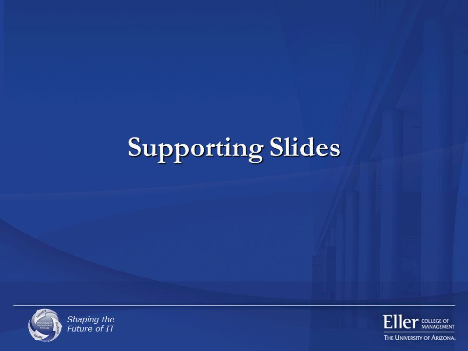 Shaping the Future of IT Supporting Slides