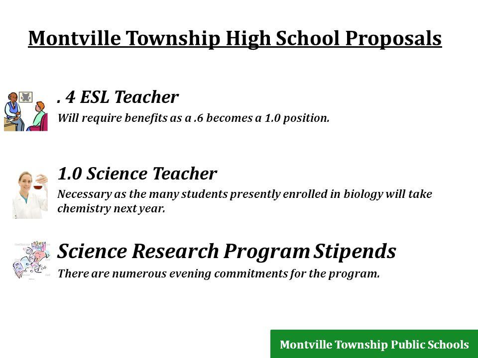 Montville Township High School Proposals.