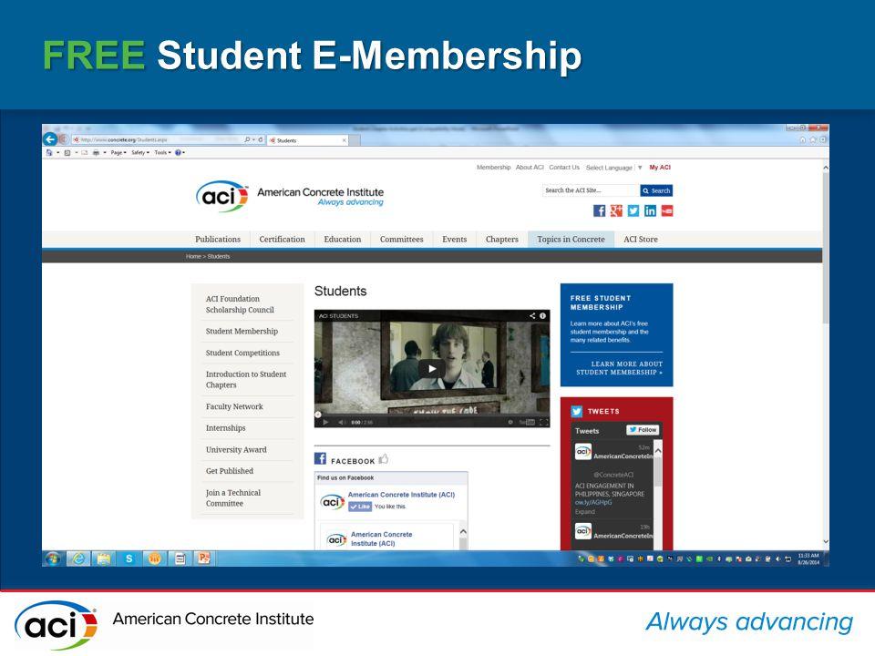FREE Student E-Membership