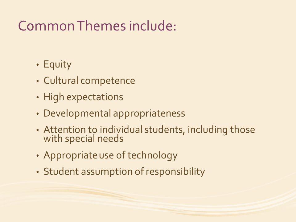 This training on the Framework for Teaching includes: The Understanding the Framework for Teaching module, which describes how the Framework is organized and what aspects of teaching are included in the Framework for Teaching.