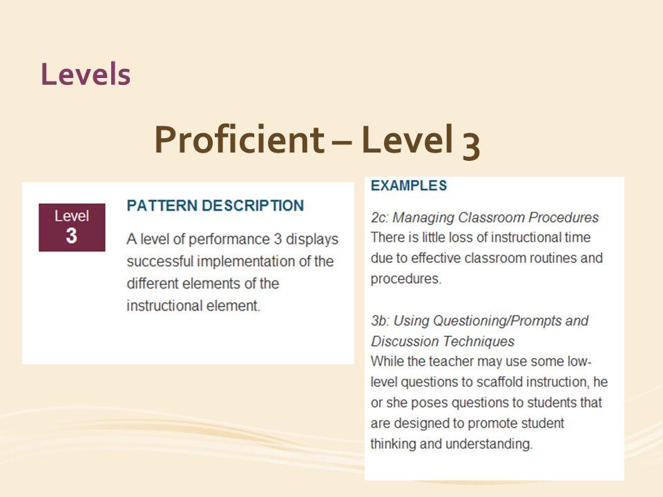 Levels Proficient – Level 3