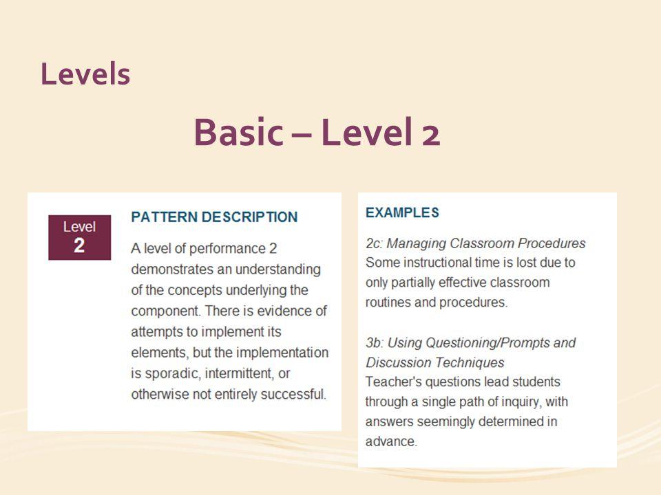 Levels Does Not Meet Standard – Level 1