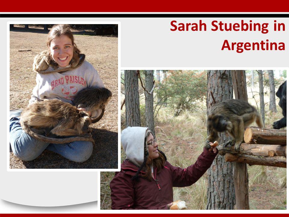 Sarah Stuebing in Argentina