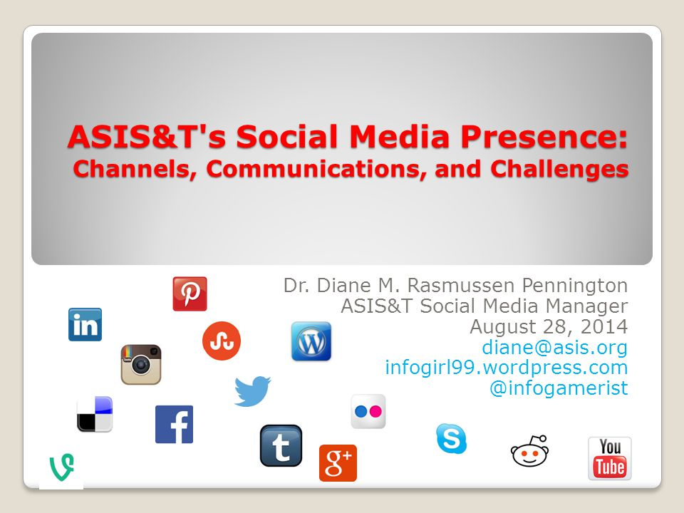 Social media survey: Preliminary results I consider emails as my primary communication connection to ASIS&T.