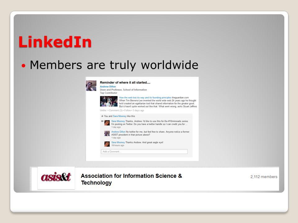 Social media survey: Preliminary results ASIS&T social media following: