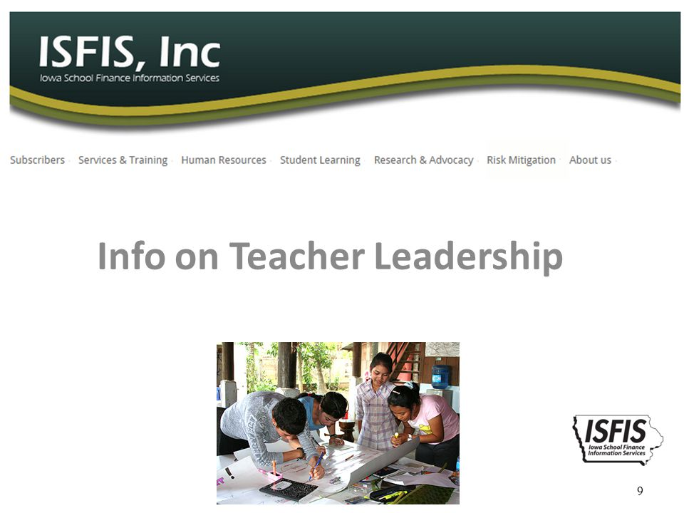 Info on Teacher Leadership 9