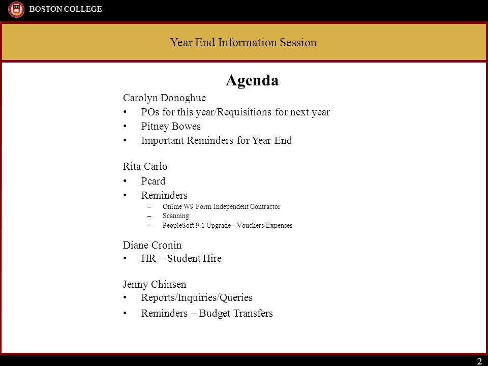 Year End Information Session BOSTON COLLEGE 13 Forms available on www.bc.edu/procurementwww.bc.edu/procurement