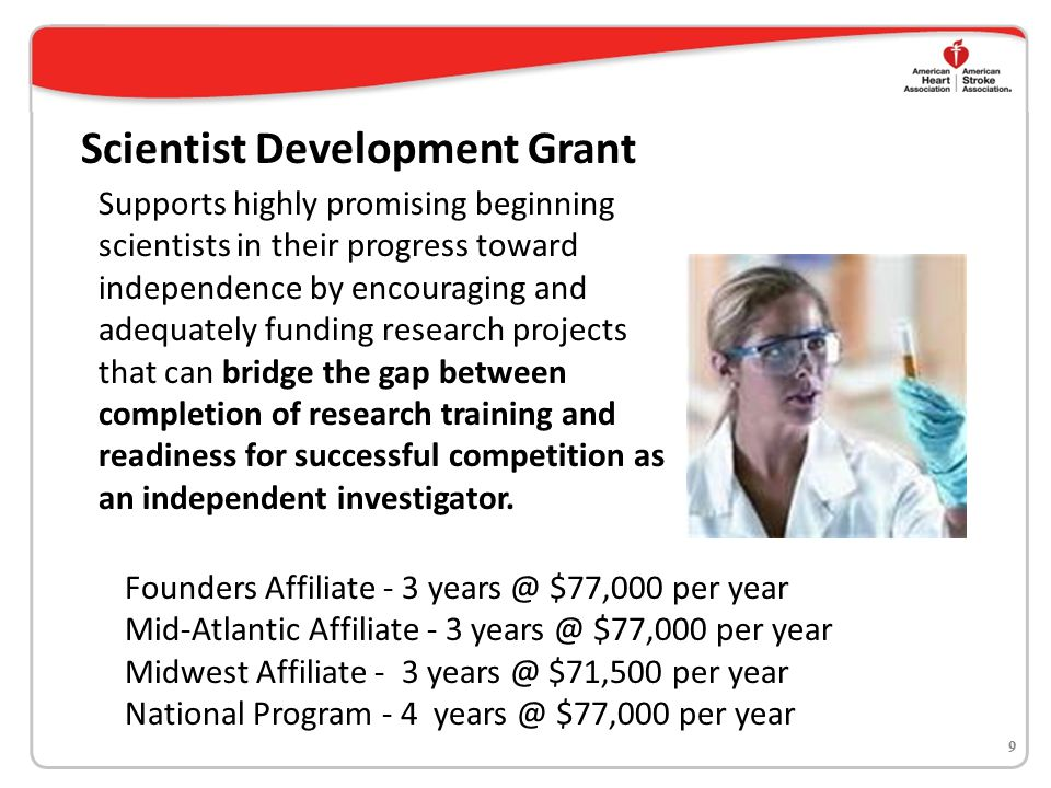 Supports highly promising beginning scientists in their progress toward independence by encouraging and adequately funding research projects that can bridge the gap between completion of research training and readiness for successful competition as an independent investigator.
