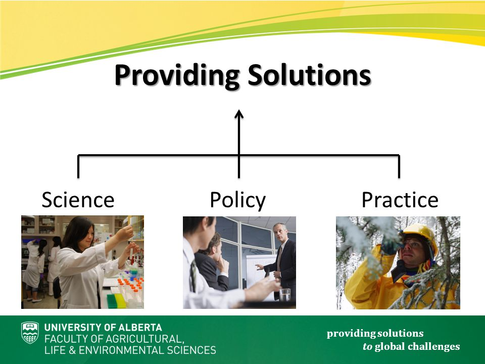 providing solutions to global challenges SciencePolicyPractice Providing Solutions