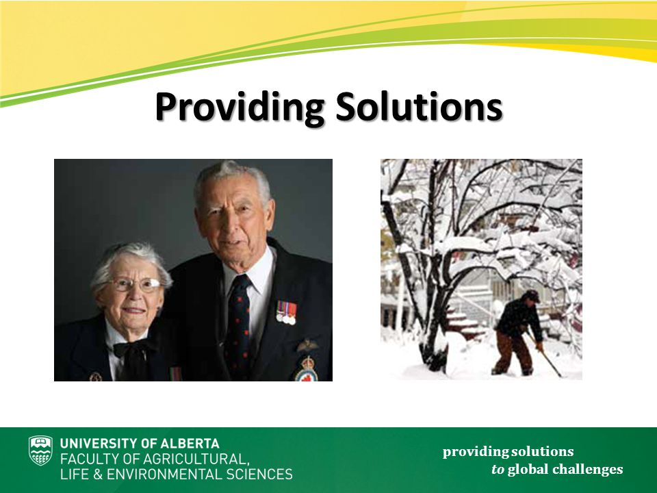 providing solutions to global challenges Providing Solutions