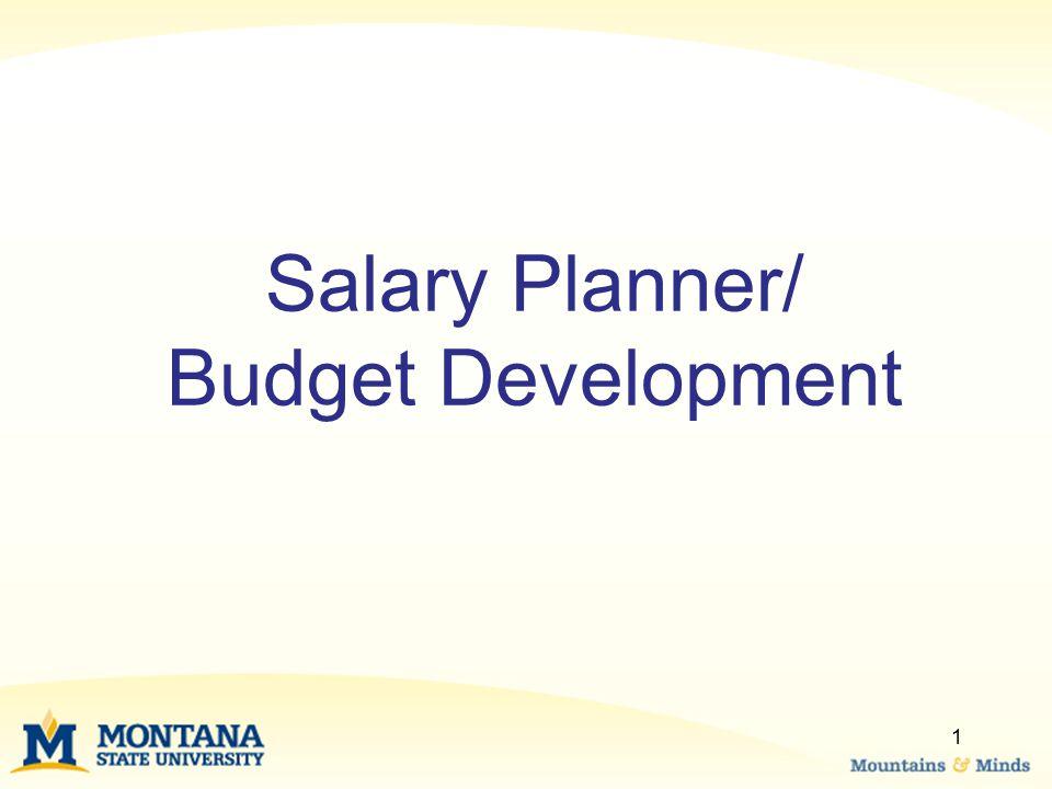 Salary Planner/ Budget Development 1
