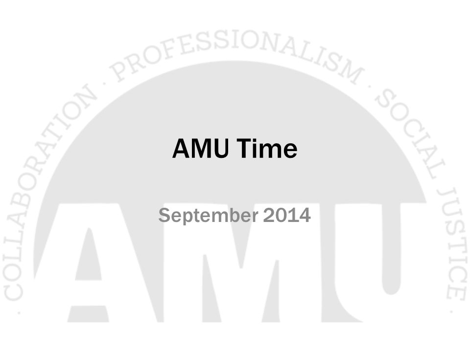 AMU Time September 2014