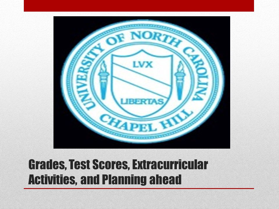Grades, Test Scores, Extracurricular Activities, and Planning ahead