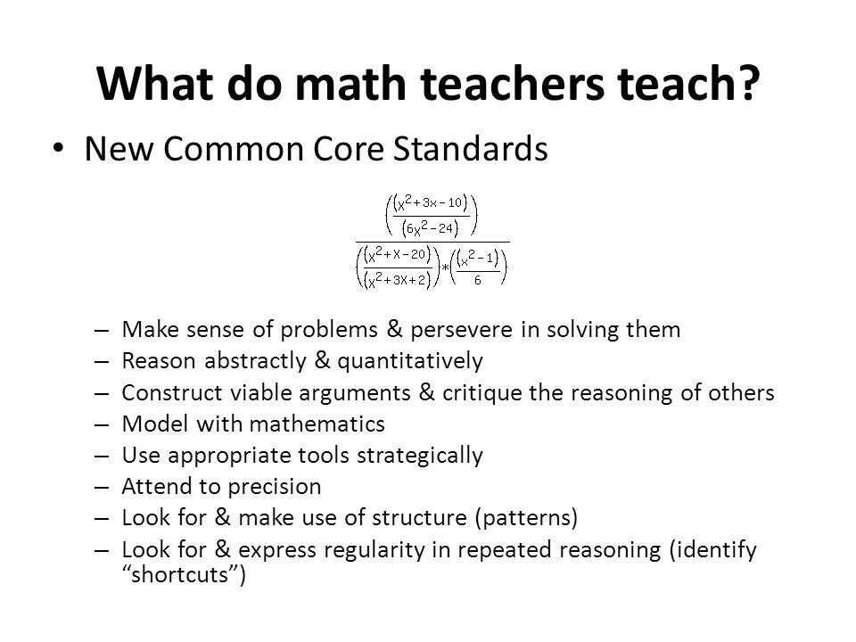What do math teachers teach.