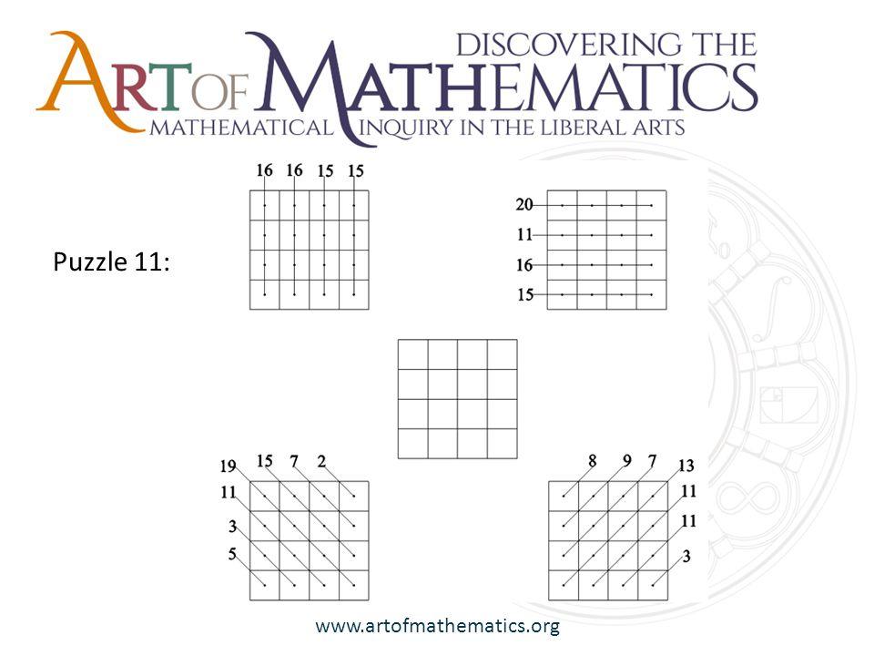www.artofmathematics.org Puzzle 11: