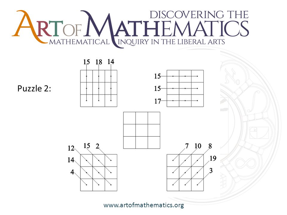 www.artofmathematics.org Puzzle 3: