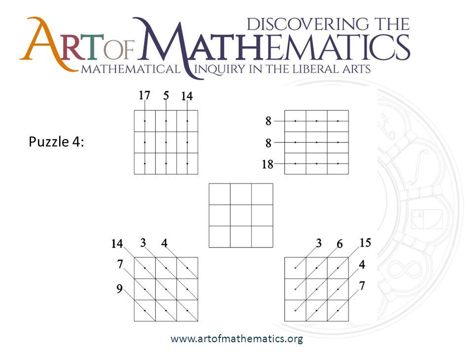 www.artofmathematics.org Puzzle 4: