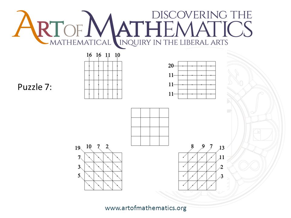 www.artofmathematics.org Puzzle 7: