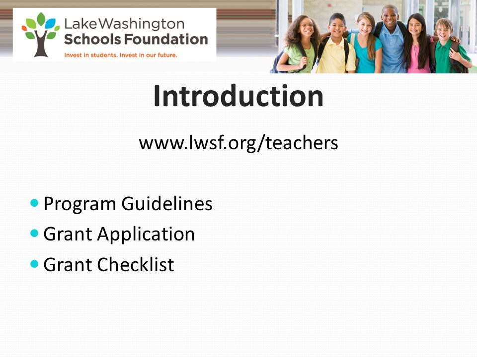 Budget A detailed budget is required Maximum funding request is $3,000 per grant application Full teacher stipend $2089.00 / Half teacher stipend $1044.50* We encourage co-funding of projects Don't forget to include: sales tax and shipping costs