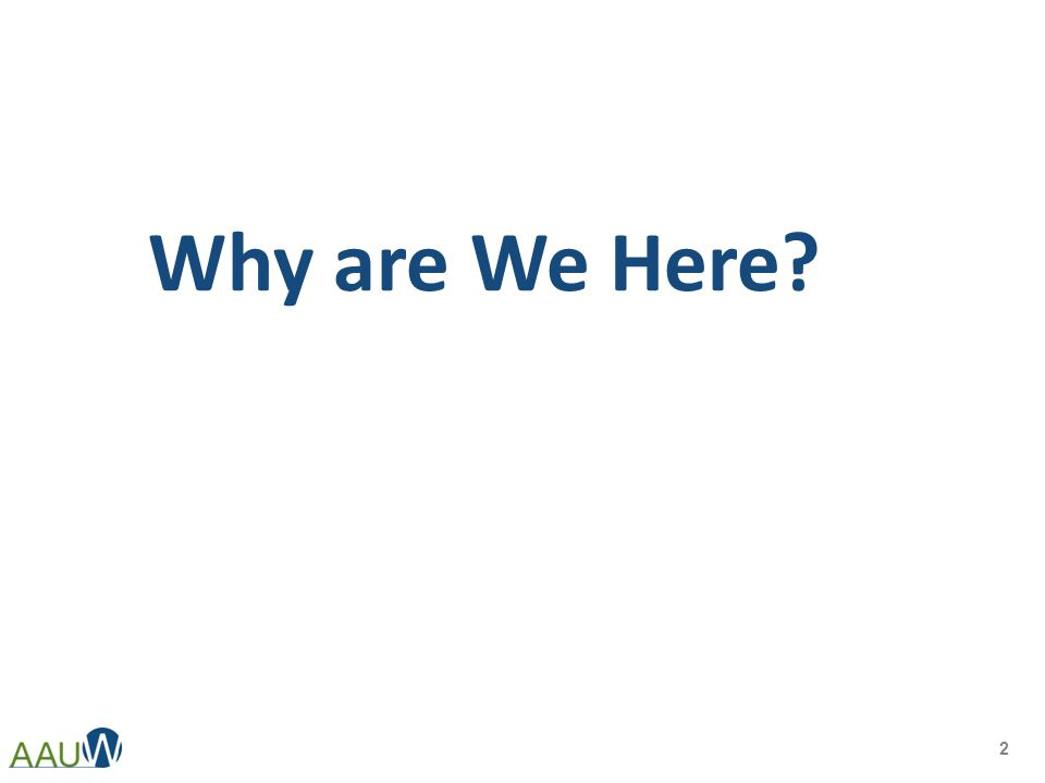 Why are We Here? 2