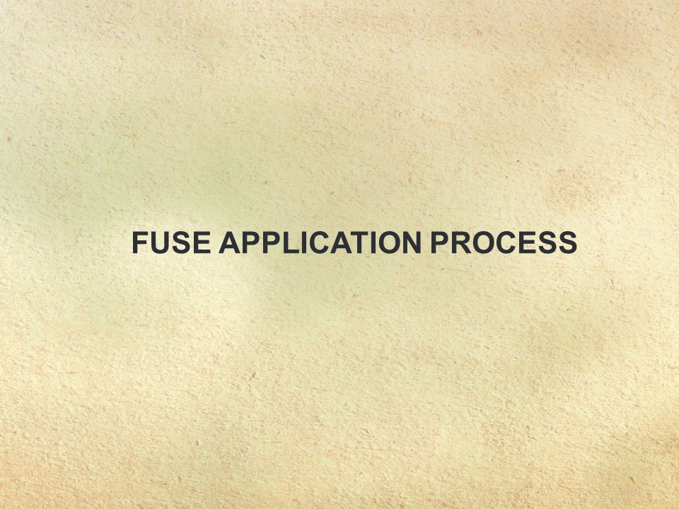 FUSE APPLICATION PROCESS