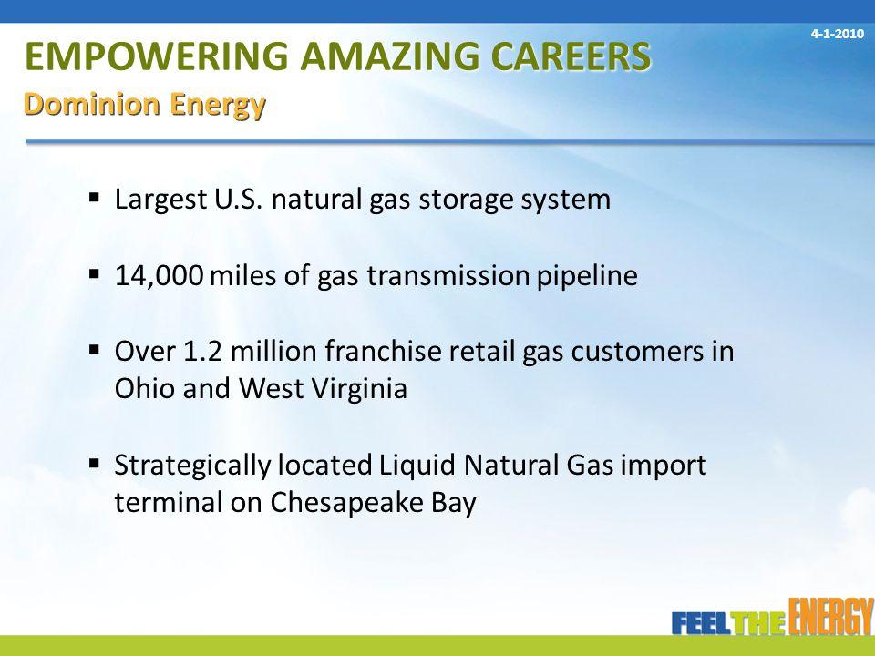 EMPOWERING AMAZING CAREERS Dominion Energy  Largest U.S.