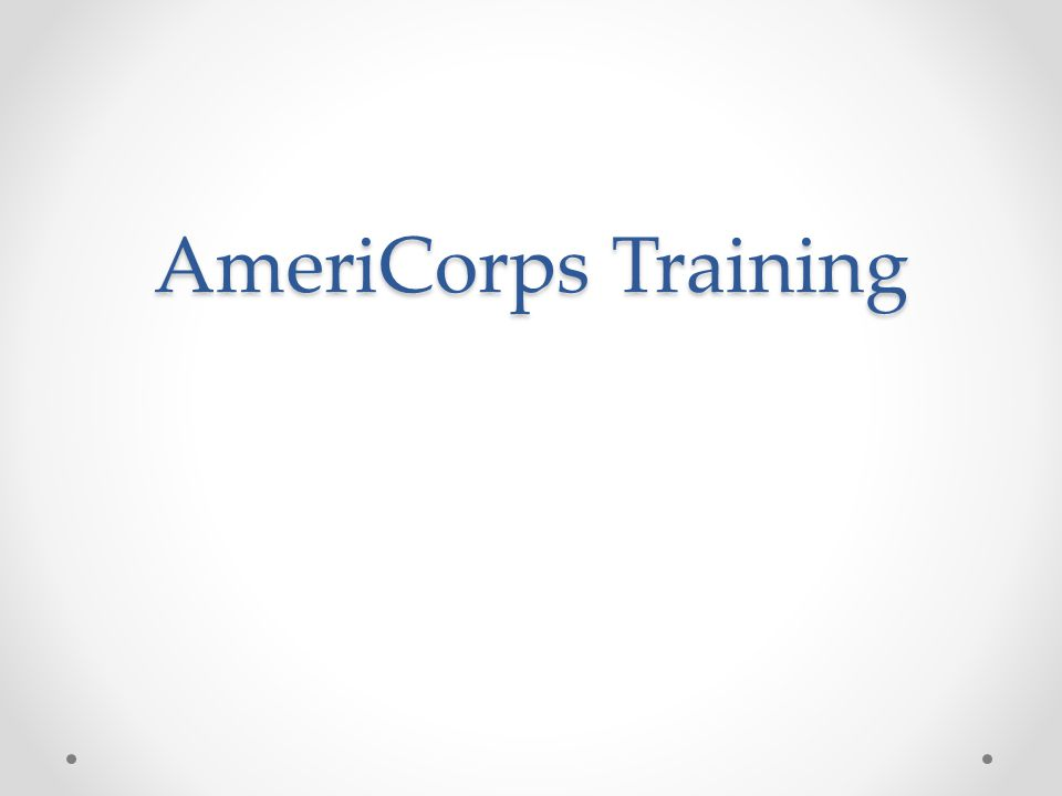 AmeriCorps Training