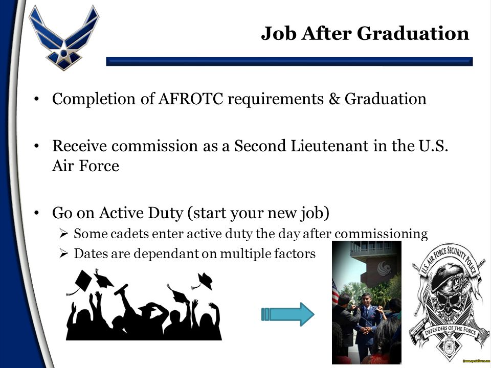 US Air Force Academy- www.academyadmissions.com Enlisting in the Air Force- www.airforce.com High School Scholarships: http://www.afrotc.com/ For questions regarding medical school, nursing or foreign language programs please contact your admissions officer Other Resources
