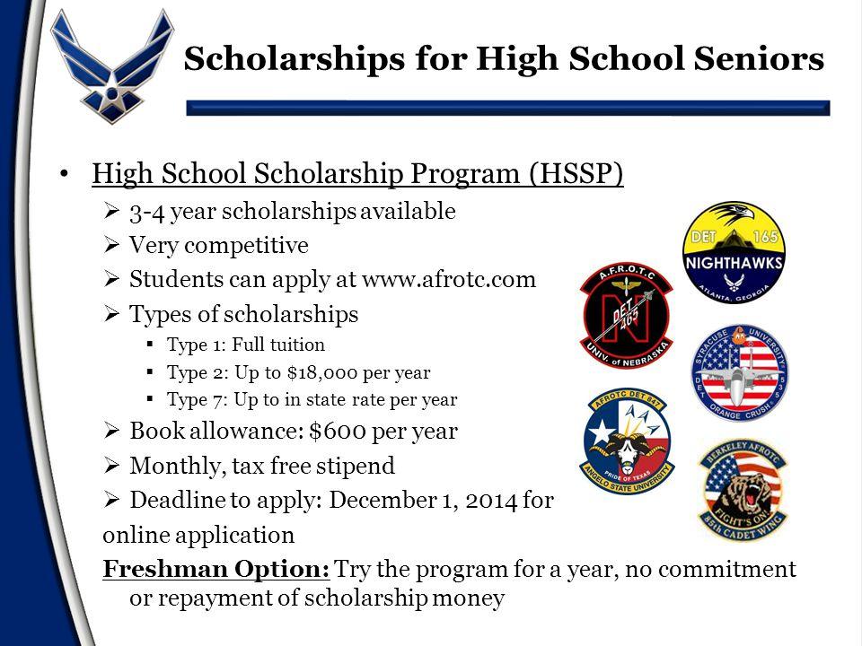 Basic Scholarship Eligibility Be a U.S.