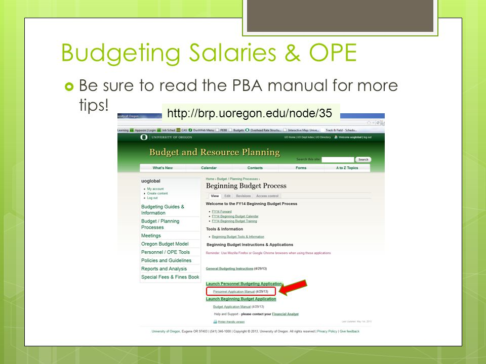  Be sure to read the PBA manual for more tips.
