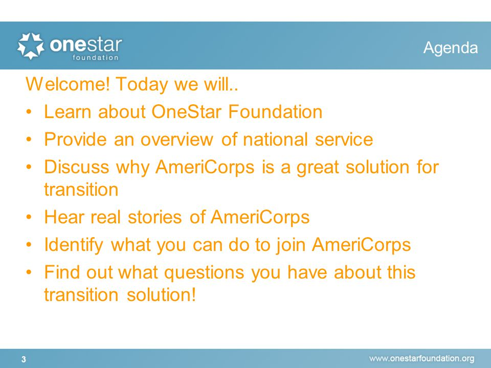 Poll Show of hands: How many of you have heard about AmeriCorps.