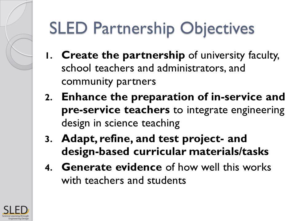 SLED Partnership Objectives 1.