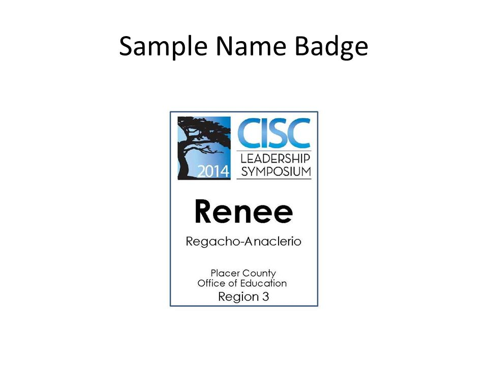 Sample Name Badge