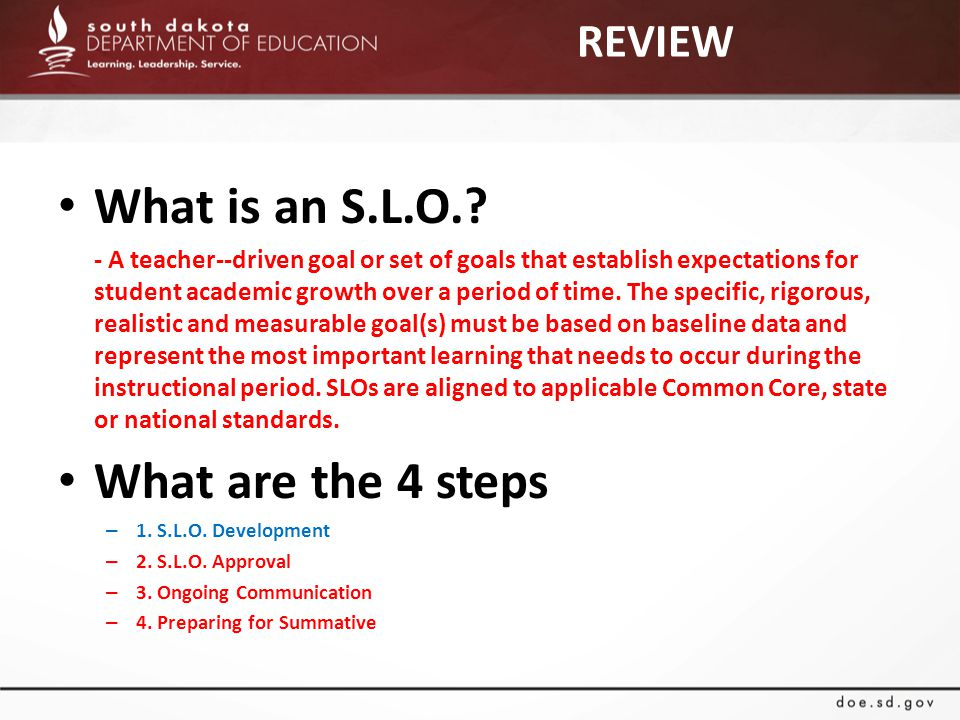 REVIEW What is an S.L.O..
