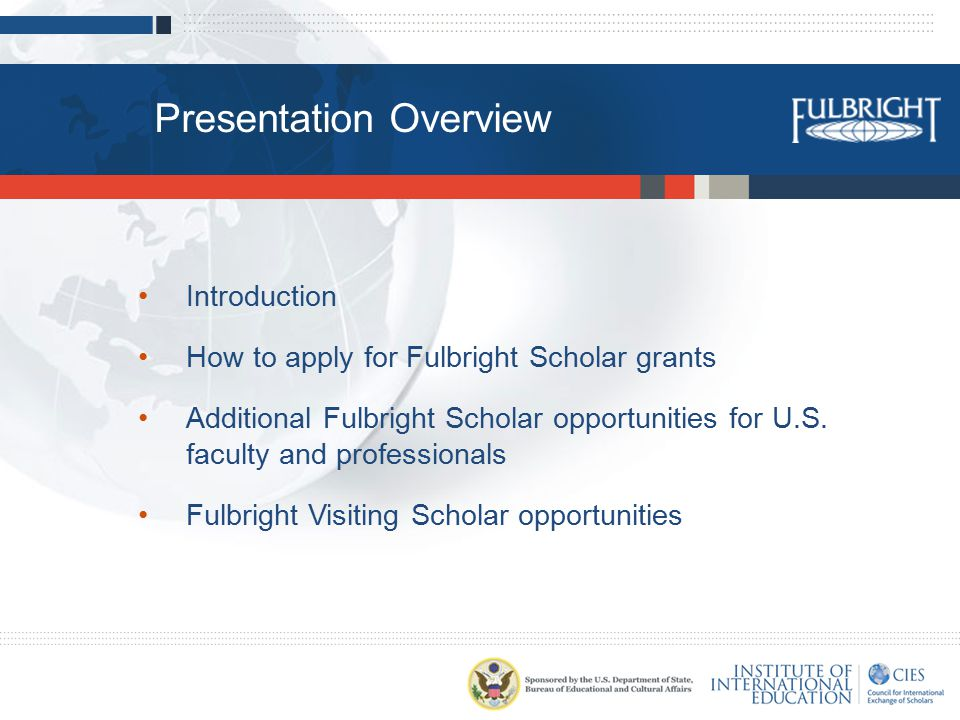 Eligibility U.S.citizenship A Ph.D.