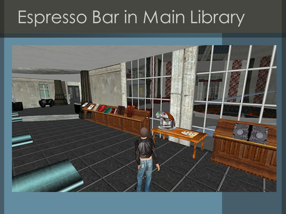 Espresso Bar in Main Library