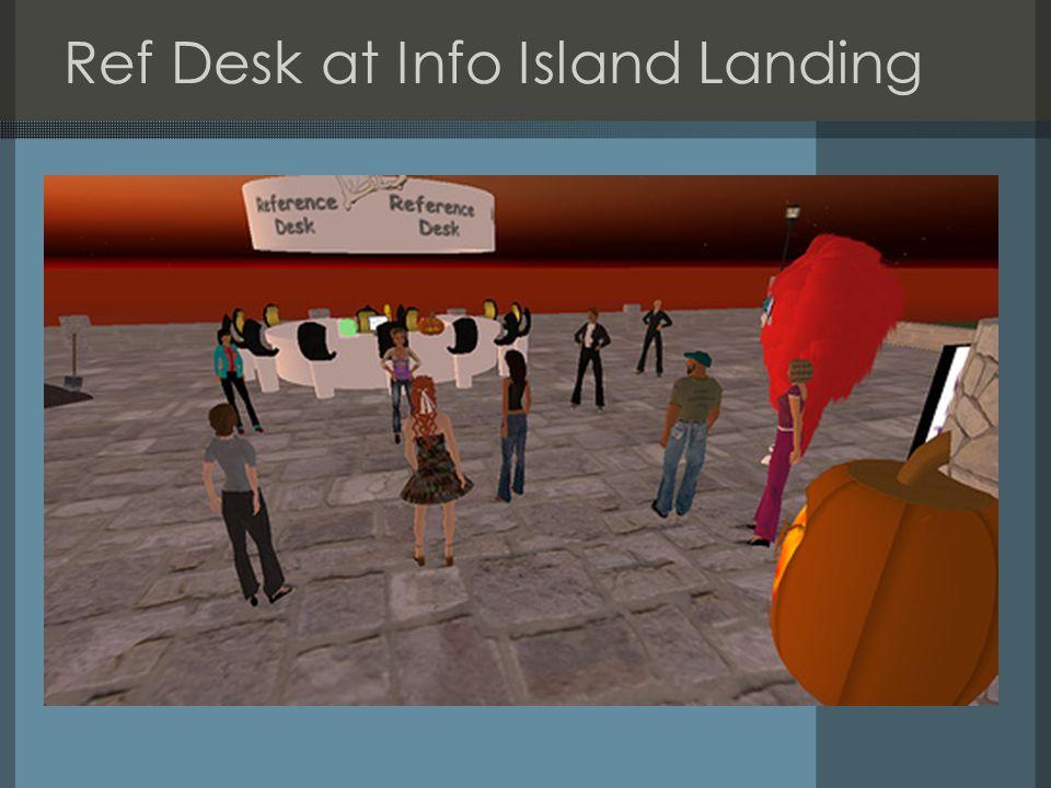 Ref Desk at Info Island Landing
