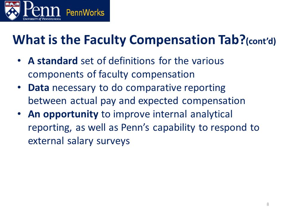 What is the Faculty Compensation Tab.